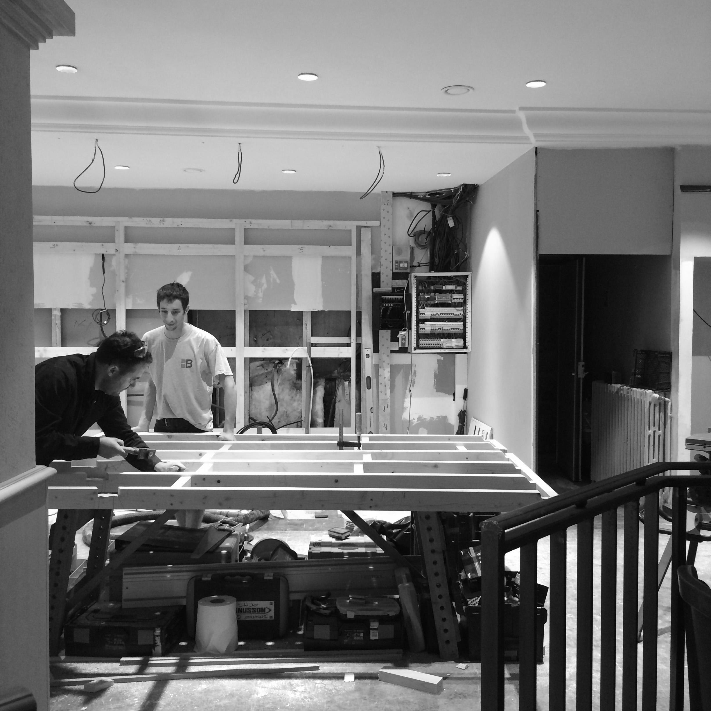 Architecte d'intérieur - Chantier - Aménagement d'un restaurant - Angoulême